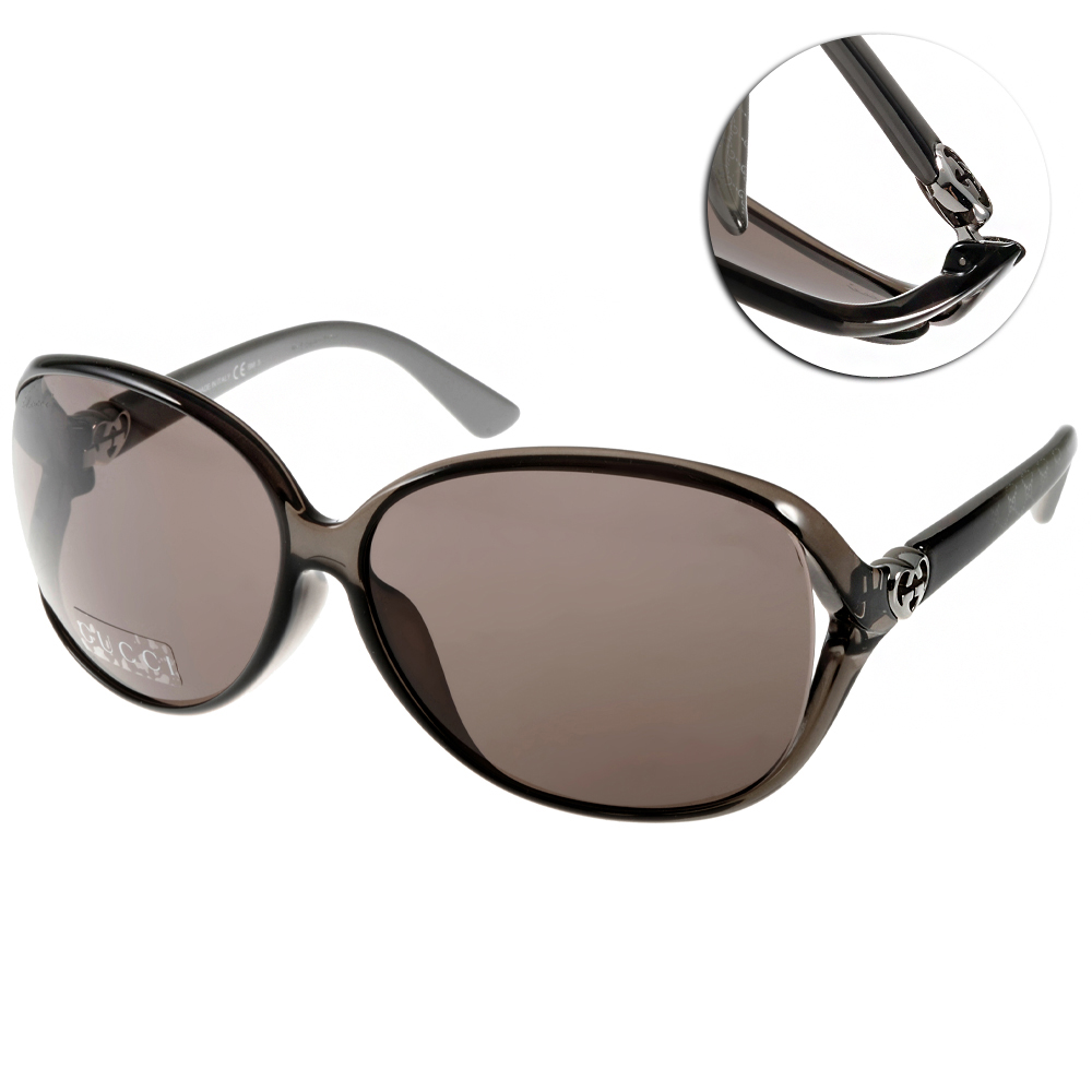 GUCCI太陽眼鏡 鏤空LOGO款/透灰#GG3792FS ML1