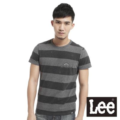 Lee-短袖T恤-橫條紋-男款-灰-LL12009