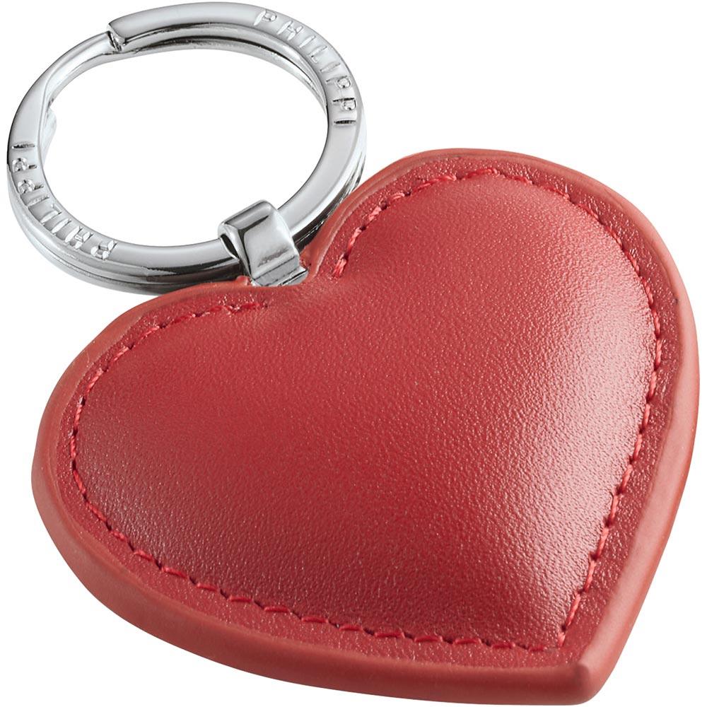 PHILIPPI Cora牛皮愛心鑰匙圈(紅)