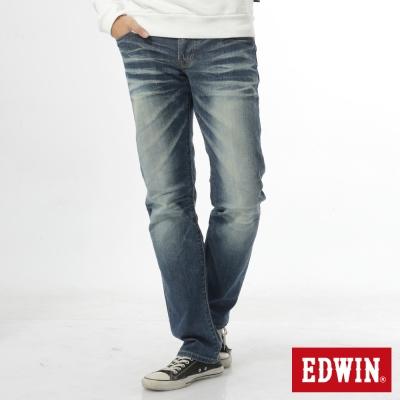 EDWIN 江戶勝 EDGE中直筒牛仔褲-男-中古藍