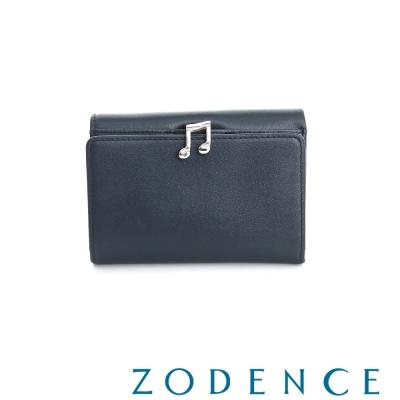 ZODENCE 西班牙牛皮系列完美和弦音符設計中夾 藍