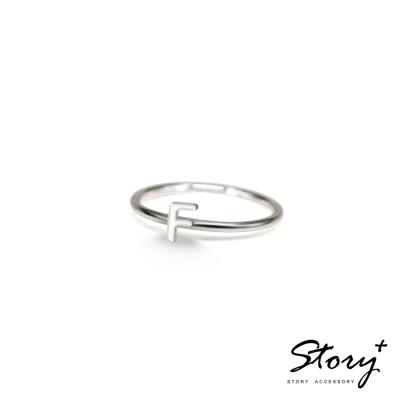 STORY ACCESSORY-字母系列-字母F 純銀戒指