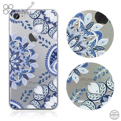 apbs iPhone8/7 4.7吋施華洛世奇彩鑽手機殼-青花瓷