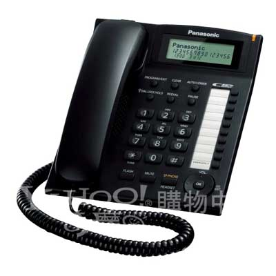 Panasonic 國際牌 多功能來電顯示有線電話KX-TS880(黑色)