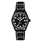 阿爾卑斯軍錶S.A.M -獨家限定-指揮官系列-黑錶殼/黑錶盤/皮帶/30mm