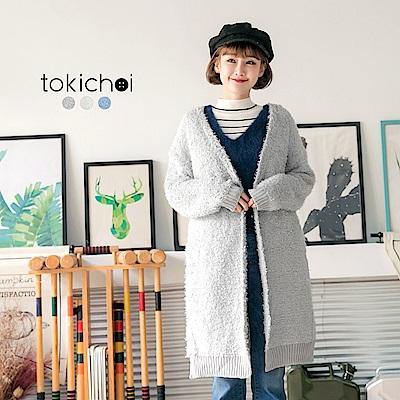 東京著衣 多色慵懶保暖仿羊毛外套(共三色)