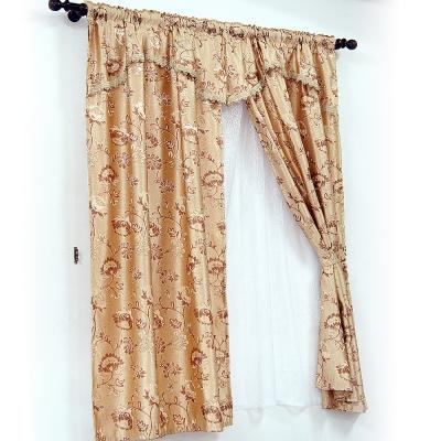 布安於室-緹花穿管式雙層窗簾