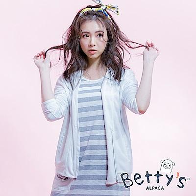 betty's貝蒂思 開襟拉鍊造型罩衫(白色)