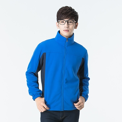 【SNOW FOX 雪狐】男款北極絨細緻刷毛保暖外套 FC-71651 寶藍/藍