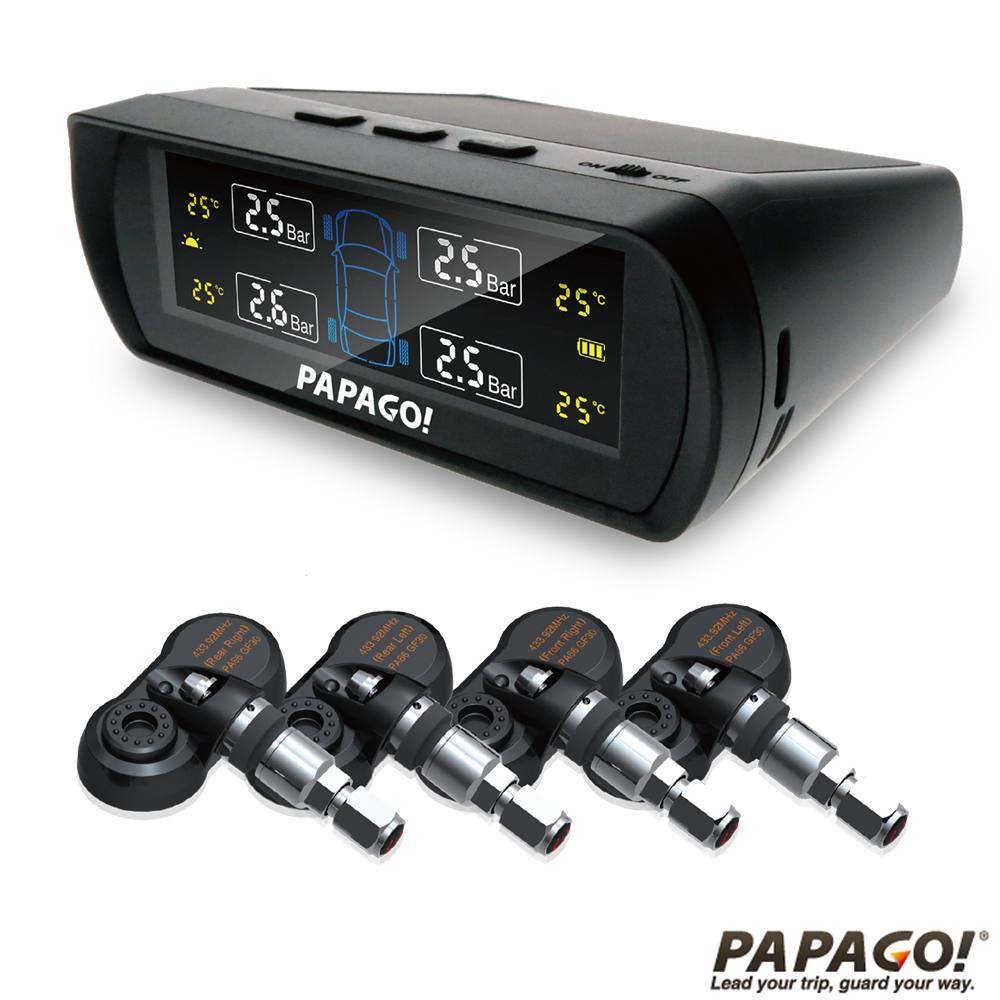 PAPAGO ! TireSafe S60I無線太陽能胎壓偵測器(胎內式)-急速配