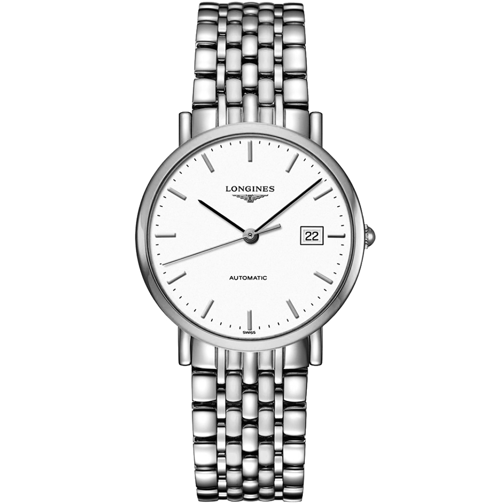 LONGINES Elegant Collection典雅機械腕錶-白/37mm L48104126