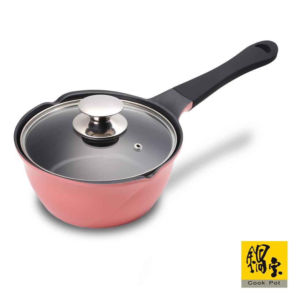鍋寶 玫瑰不沾雪平鍋-18cm(粉紅) AI-1800P
