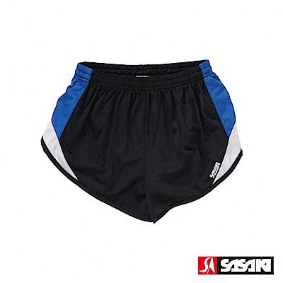 SASAKI 吸濕排汗田徑短褲-女-黑/寶藍/白