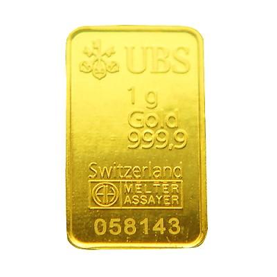 『限時89折』【UBS kinebar】黃金條塊(1公克)