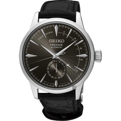 SEIKO精工 Presage 中央動力儲存顯示機械錶(SSA345J1)-灰黑/40mm