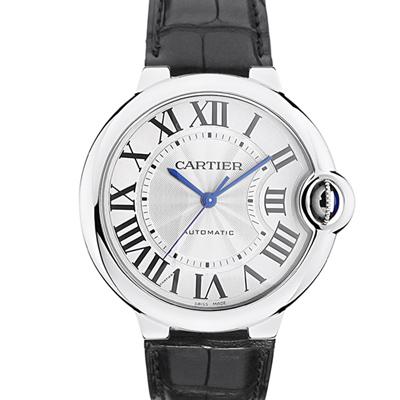 Cartier 卡地亞 Ballon Bleu 經典大型藍氣球皮帶腕錶-36mm