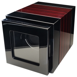 自動機械錶收藏盒【自動上鍊盒1只】鋼琴烤漆木紋雙色款收藏納錶盒 (自動20) LED燈