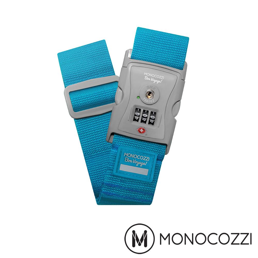 MONOCOZZI TSA LUGGAGE BELT 密碼行李箱綁帶-海水藍