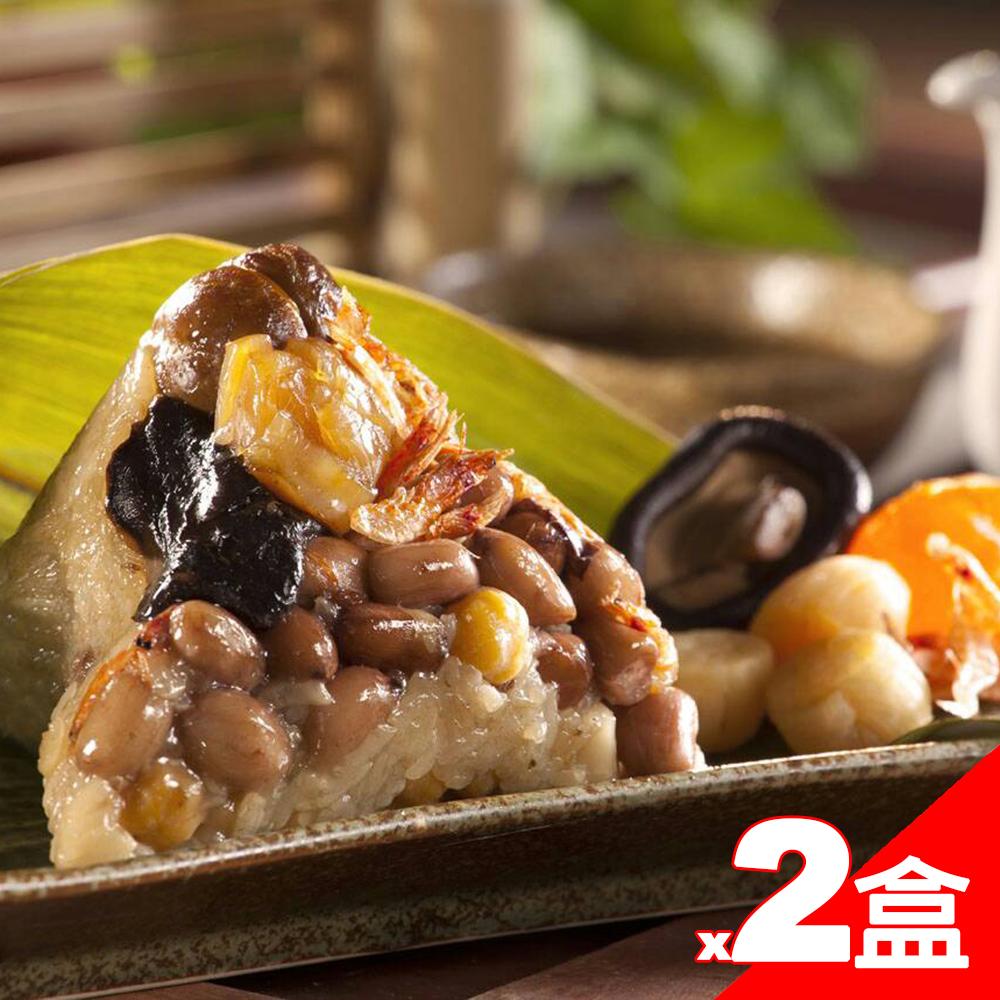 嘉義福源肉粽 櫻花蝦干貝粽x2盒(4入/盒)