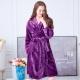 睡衣 極暖柔軟水貂絨女性長袖睡袍(29242)葡萄紫-蕾妮塔塔 product thumbnail 1
