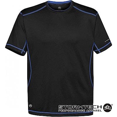 【加拿大STORMTECH】舒適彈力車縫機能衫SAT400-男-黑寶藍