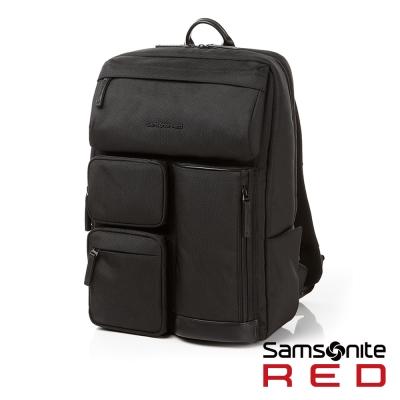 Samsonite RED CLAKEN 休閒生活中性機能筆電後背包-M14吋(黑)