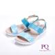 PQ-菱格幾何環扣式涼鞋女鞋-藍-另有桃