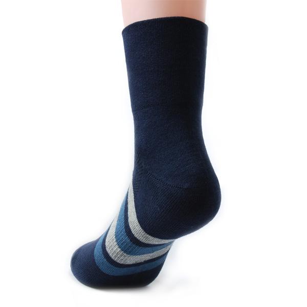 TiNyHouSe 舒適襪系列 中筒寬口休閒襪 深藍色2雙入
