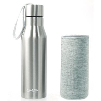 AWANA極限運動瓶附套450ml不鏽鋼色