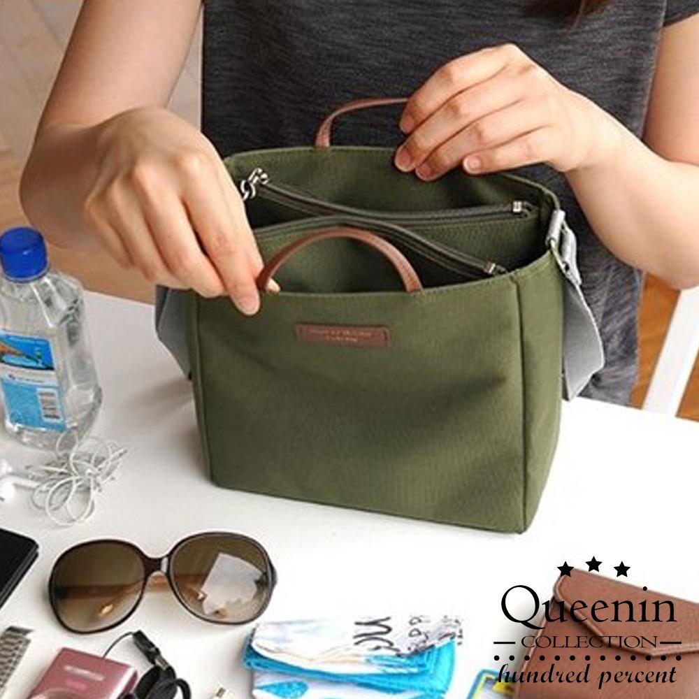 DF Queenin流行 - 韓版包中包手提斜背收納袋-共3色 product image 1