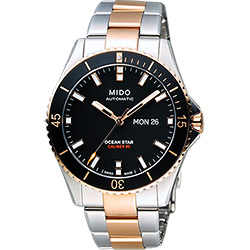 MIDO 美度 Ocean Star Caliber 80 200m潛水機械腕錶-黑x雙色