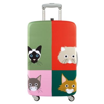 LOQI 行李箱套 - 貓大爺S號  (適用21吋以下行李箱保護套)