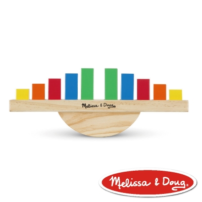 美國瑪莉莎 Melissa & Doug  益智遊戲 - 彩虹平衡翹翹板