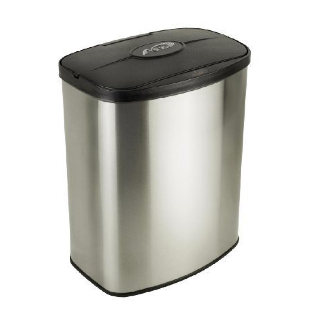 美國NINESTARS時尚不銹鋼感應垃圾桶8L