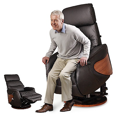 【Sun Pin】Marquez馬奎斯貴族電動起身椅(雙馬達&旋轉座)-黑色