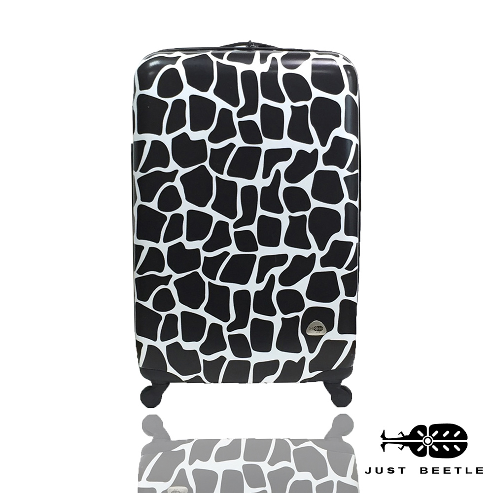 Just Beetle動物樂園系列之長頸鹿紋20吋輕硬殼旅行箱/行李箱-黑白色