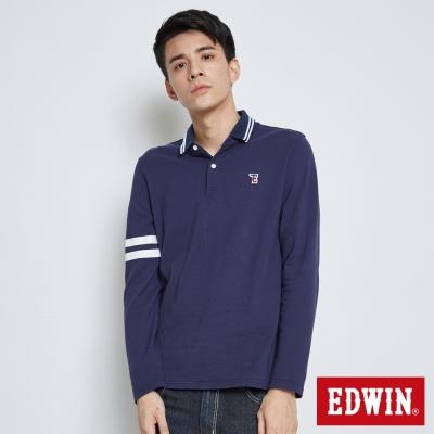 EDWIN 經典小E LOGO POLO衫-男-丈青