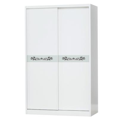 Bernice-4尺白色推門衣櫃-120x60x198cm