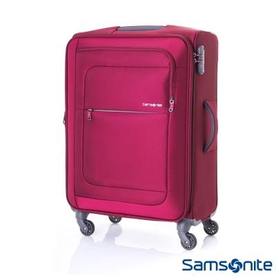 新秀麗-24吋Populite可擴充布面行李箱-紅