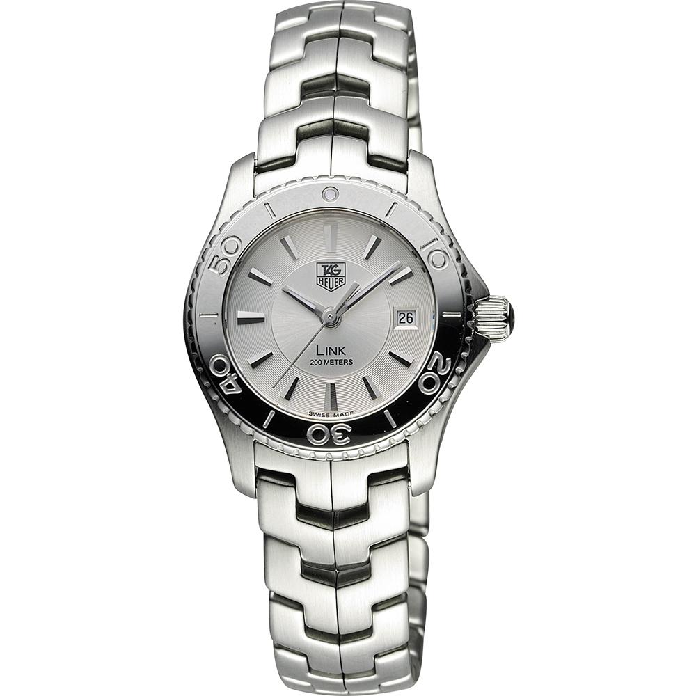 TAG HEUER 豪雅 LINK 系列運動風尚200米腕錶-銀/28mm