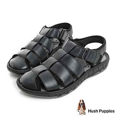 Hush Puppies BREEZE 夏日機能羅馬涼鞋-黑