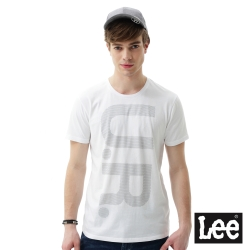 Lee UR印刷短袖圓領T恤 男 白色