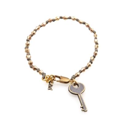 Wakami 許願鑰匙手環-卡其色