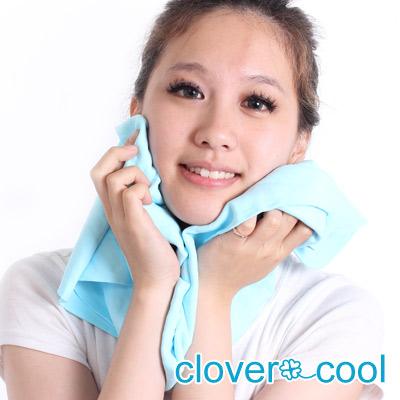 Clover瞬間涼感多用途冰涼巾大毛巾-冰晶藍