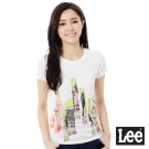 Lee 雷射印花短袖T恤-女-白