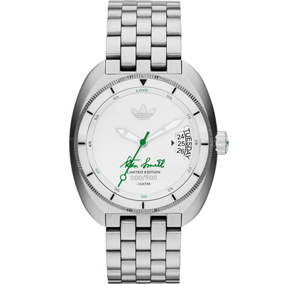 adidas Stan Smith 全球限量簽名紀念腕錶-白色 /42mm