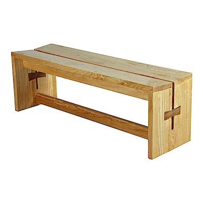 AT HOME-柏克萊原木本色實木長椅凳(130*38*45cm)