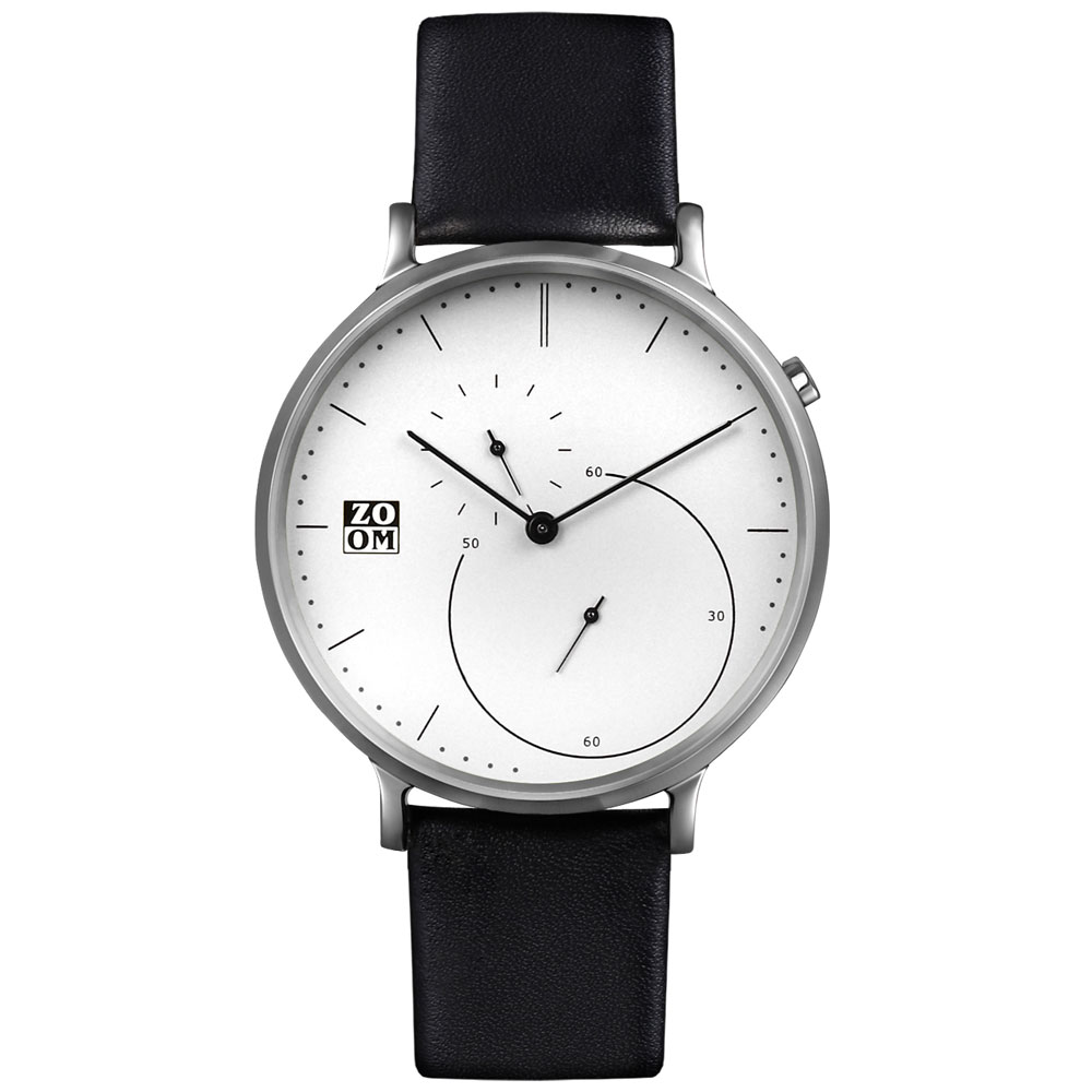ZOOM-PURE 精準比例時尚腕錶-白色/44mm