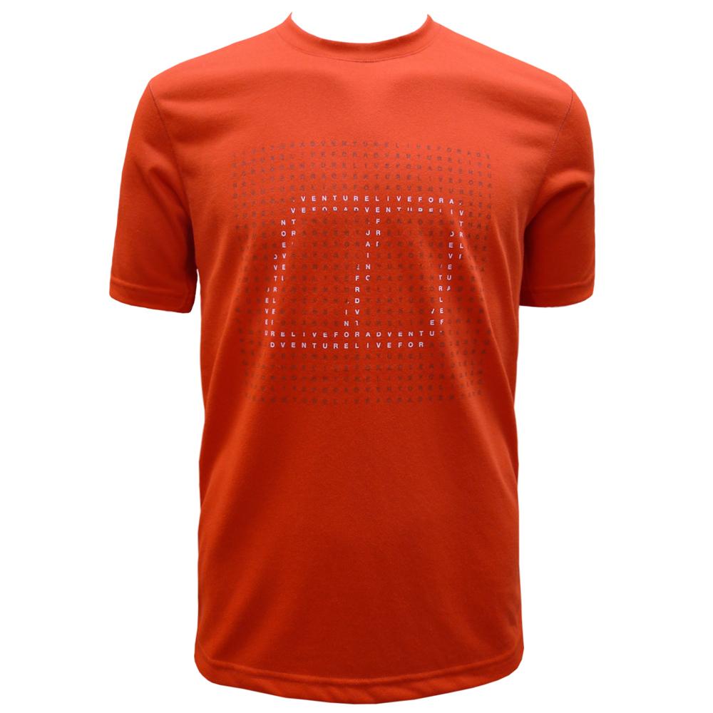 【Berghaus 貝豪斯】男款銀離子短袖T恤S04M03-橘