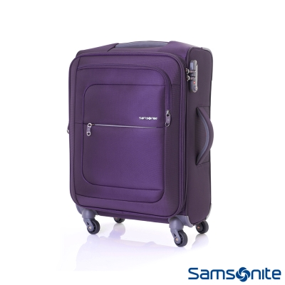 Samsonite新秀麗-20吋Populite四輪TSA超輕量可擴充布面行李箱-紫